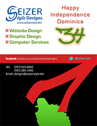 Dominica 34th Independence poster