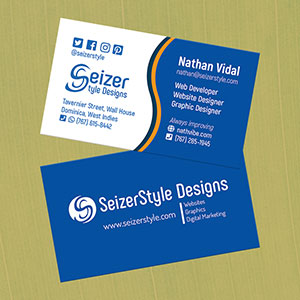 SeizerStyle Designs 2019 Business Cards